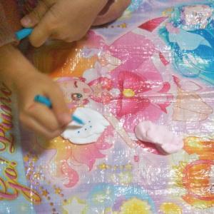 【紙粘土で小物入れ製作】小3・5歳女の子