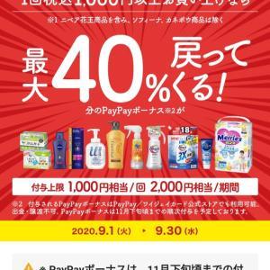 9月30日まで♪PayPayで花王製品がお得に買えるー!