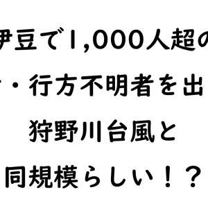 【備えは最大に】2019年台風19号は狩野川台風に匹敵するらしい!【過去に学べ】