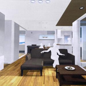 【パース内覧会】1階 玄関、トイレ、LDK、スタディコーナー、和室、洗面脱衣室、浴室