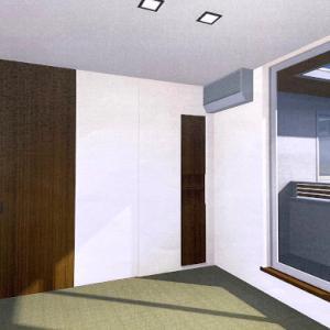【パース内覧会】2階 階段、ホール、トイレ、書斎、子供部屋、和室、WIC、バルコニー
