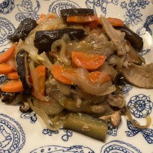 ホットクックで作る夕ごはん60豚肉の味噌炒め