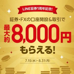 【条件簡単】LINE証券&FX大型キャンペーン!最大約8000円がもらえる!