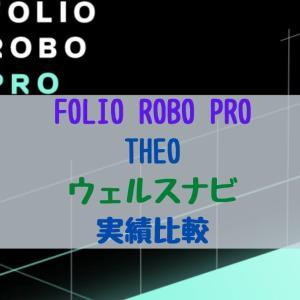【2020年8月】FOLIO ROBO PRO(フォリオロボプロ)&THEO&ウェルスナビ比較 気になる結果は?