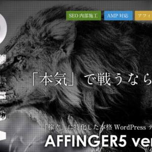 AFFINGERの使用感と特徴を「他テーマと比較して」解説レビュー【何がどう違うのか】