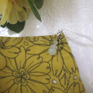 天然石&スワロフスキーでマスクチャームを作ってみた&野花に氷編 。.:*・° ♫