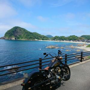 日本海の奇石、ツーリング!