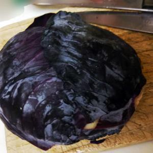 紫キャベツを食べよう!!切り口のデザインはステキだぁぁ(*´◡`*)→芸術の秋だから?_no.1