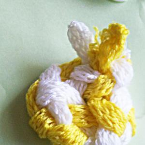 第6回__4つ編みたわしをリフォーム⇒ウサギへ?