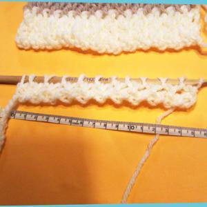 札幌今季初の積雪8cmと、数年来の宿題?◯◯◯◯マットを編み始めた__no.1