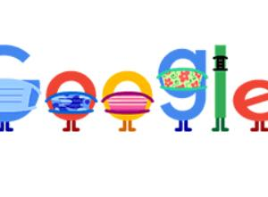 今日の札幌も30度まで~~☂☀!?と、google画面も、コロナ対策を訴える。_。m(_ _)m