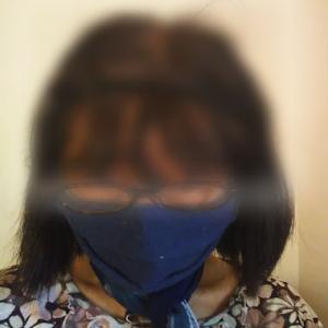 夏マスク?!麻混&Wガ-ゼ大臣風マスク&ストールのモデル自分でしました♪マネキンさんご免ねぇ~笑