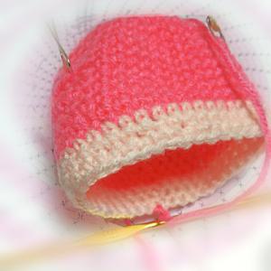 続々々々々~宿題のカギ針編みのツムツムの「シャチ猫」を編む♪進んで・・・編み図の16段目ま