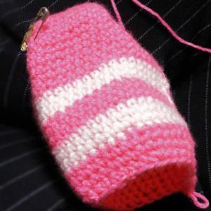 続々々々々々々~宿題のカギ針編みのツムツム「シャチ猫」をボディ進んで♪・・・編み図の28段目まで