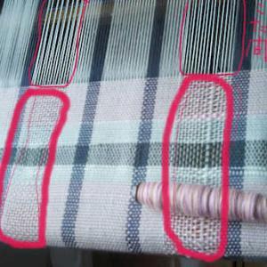 北海道の猛暑?!saori第3弾-2作目マットピンク2本糸も入れて織~no15[Tシャツの日]