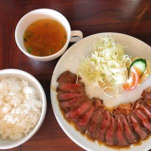 邑久駅すぐ近く 洋食が人気の レストランまつもと で、牛サーロイン ミニッツステーキの肉の旨味と脂の甘みを堪能する!