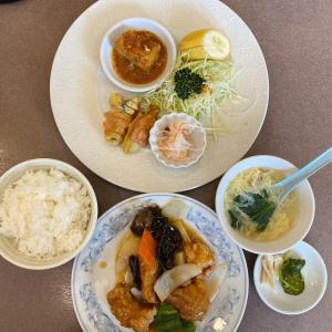 倉敷 児島駅から車で2分 中華料理の店、又一別館の日替わりランチで中華丼セットと迷うも、酢豚をオーダー