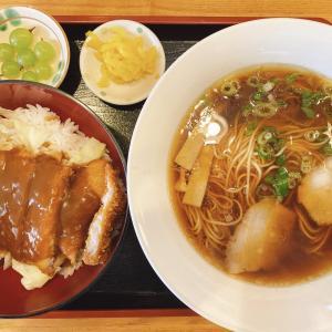 岡山市中区 新岡山港から車で5分【鷺原(さぎはら)】の鶏ガラスープのラーメンとデミカツ丼セットが、コスパ良くなかなかイケる!
