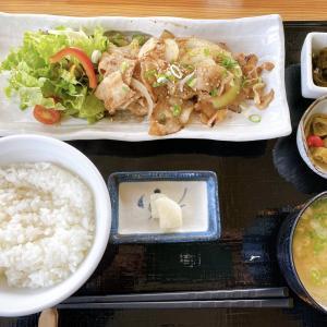 岡山市東区【Cafe 森の家】デザートとドリンクの付いた気まぐれランチ!今週はしょうが焼き!