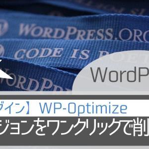 全リビジョンをワンクリックで削除する方法|WP-Optimize|WordPress・プラグイン