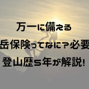 万一に備える【山岳保険ってなに?必要?】登山歴5年が解説!