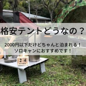 【格安テントどうなの?】3000円以下でもちゃんと泊まれる!ソロキャンにおすすめです!