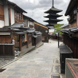 2021年関西ツアー③春の京都、東山のルーフトップバーにて。