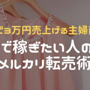 【メルカリ転売術】1日でアパレル約3万円売り上げる主婦が教えます!【副業】