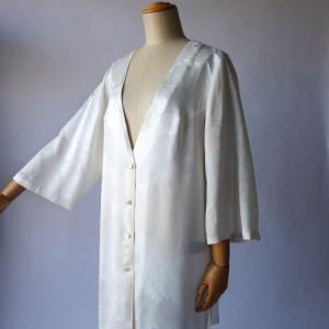 白のめでた柄・鶴と波柄ステージ衣装オーダー制作ご依頼