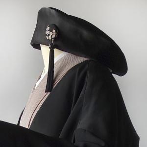 帯地リメイク/rikyu(利休)/ベレータイプの個性派帽子制作