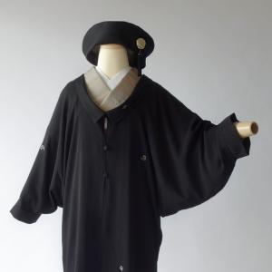 正絹羽織から作った和洋兼用総裏ドレープアウター制作 パールトーン加工の童子の高級襦袢地使用