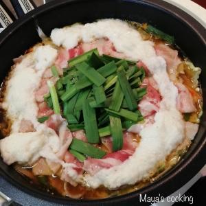 寒い日は鍋が1番【ひき割り納豆と山芋のネバふわキムチ鍋】