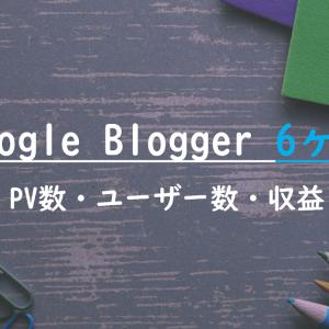 【PV数10000突破】Google Blogger 6ヶ月の運営報告。完全素人+片手間更新のBloggerの収益・Pv数・アクセス数とは
