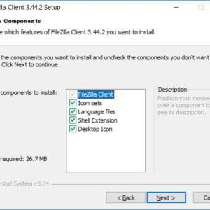 無料 FTP ソフト FileZilla ダウンロード、インストール、日本語での使い方