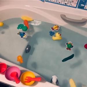 お風呂のお湯が青い?過炭酸ナトリウムで風呂釜から小物までツルっと洗浄!