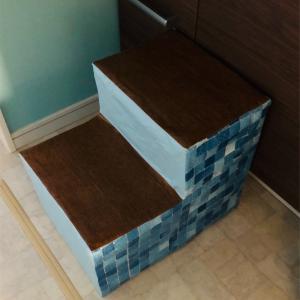 牛乳パックで簡単手作り!洗面台に置く子供用の二段踏み台