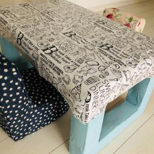 材料費300円☆牛乳パックで子供の机をつくりました。