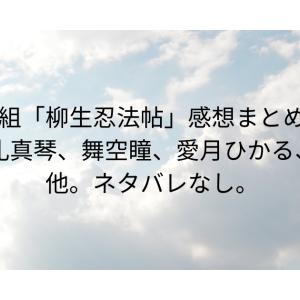 星組「柳生忍法帖」感想まとめ・礼真琴、舞空瞳、愛月ひかる、他。ネタバレなし。