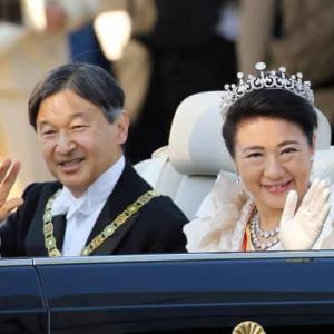 Japan's new emperor greeted by thousands during rare parade   World news   The Guardian
