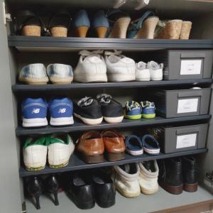 我が家の靴箱の収納お見せします*°