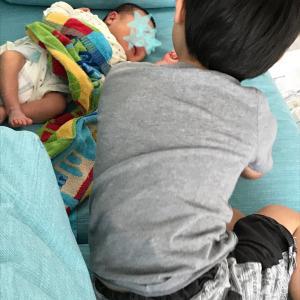 【長男4歳、次男2歳】三男誕生後のお兄ちゃん達