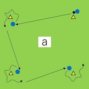 102) 四角形で背負ったDFを突破するテクニック