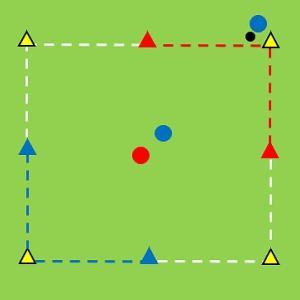 Tr103) 四角形で背負ったDFと1対1