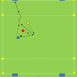 Tr148) 4ゴールの1対1+1フリーマン【オフ・ザ・ボールの動き】