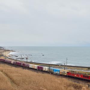 今日は穏やか 凪の日本海縦貫線