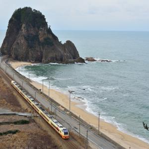 羽越本線 2月20日 裏蓬莱山