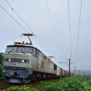 羽越本線 村上交直セクションカーブにて EF510-509貨物