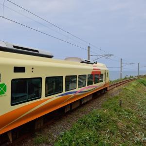 E653系いなほ 岩ケ崎で 日本海と出会う