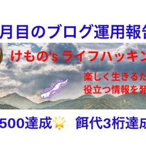 【ブログ運営報告】迷走した2ヶ月目~PV4桁・収益3桁達成~