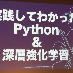 実践してわかった Python & 深層強化学習 玉城 一磨